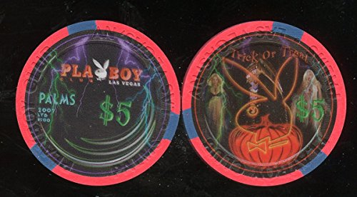$5 Palms Playboy Club Casino Halloween 2007 Uncirculated Las Vegas Casino Chip Obsolete Collectors Chip