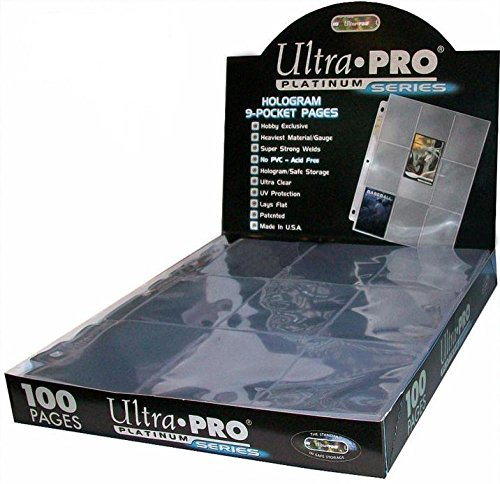 Ultra Pro Platinum 9-Pocket Pages Sheets Protectors - 100 Pack (Ultra Pro Baseball Card)
