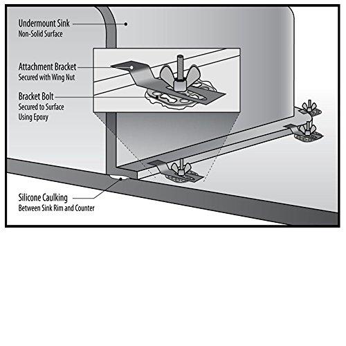 Undermount Sink Clips Fasteners For Kitchen Epoxy Bracket