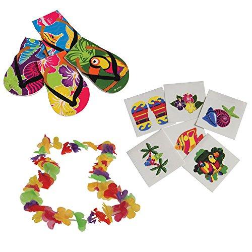 Luau Toy Party Favor Supplies 168 Piece Set for 12 Bundle -