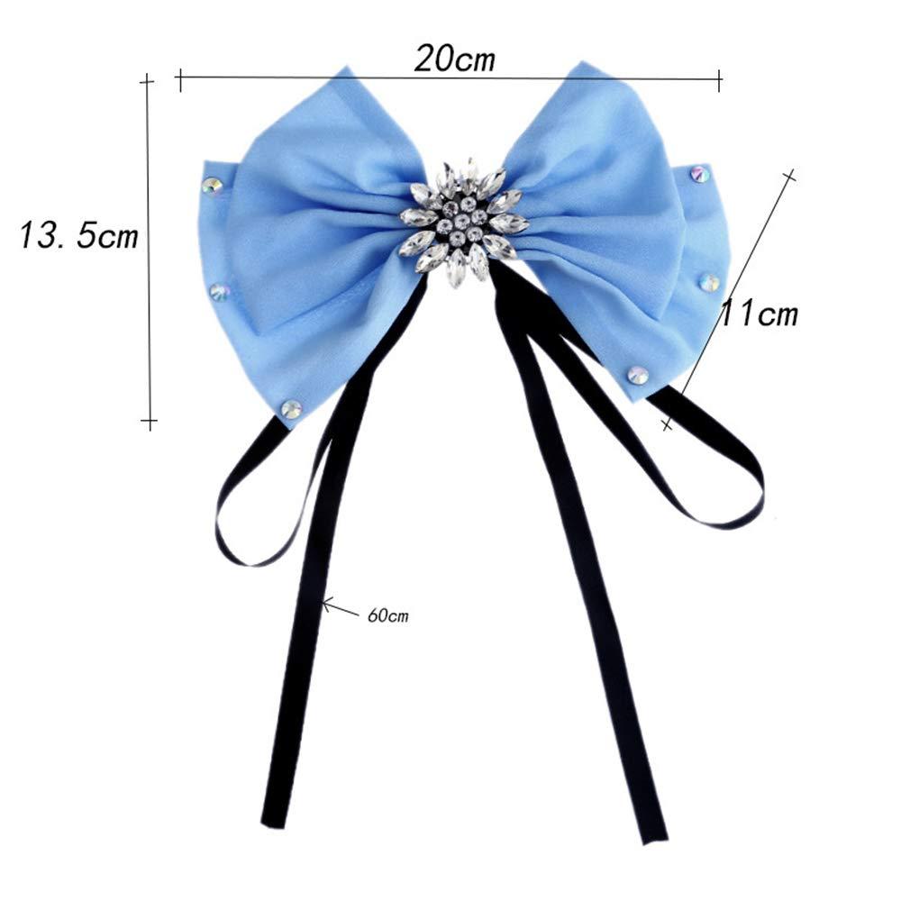 Styhatbag Lady Bow Corbatas Las Mujeres de Cristal Arco Broche Pre ...