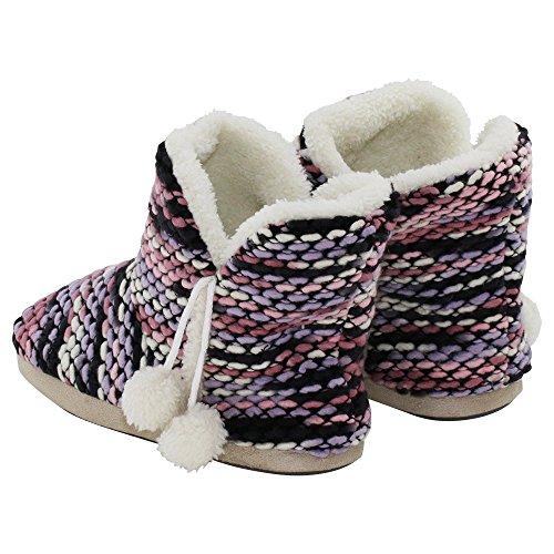 brandsseller - Zapatillas de Material Sintético para mujer, color negro, talla 38