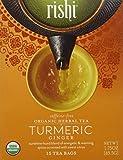 Rishi Tea Turmeric Ginger Tea, Organic Caffeine-Free Herbal Tea Sachet Bags, 15 Count (Pack of 2)