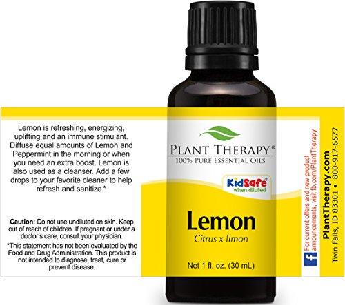 Lemon Essential Oil (Cold Pressed) 30 ml (1 oz). 100% Pure, Undiluted, Therapeutic Grade.