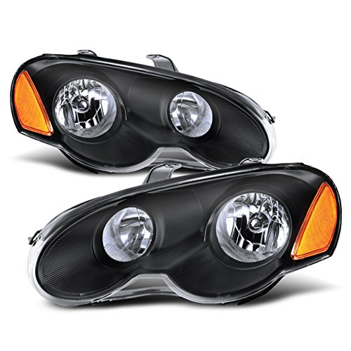 For Chrysler Sebring Coupe OE Replacement Black Bezel Headlights Driver/Passenger Head Lamps Pair New