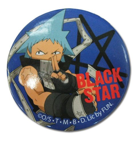 (Great Eastern Entertainment Soul Eater Black Star Button)