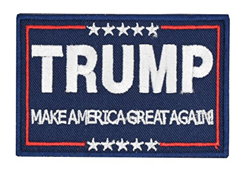 Tactical Morale Patch Trump Make America Great Again Patch Embroidered Velcro Hook Backing Emblem