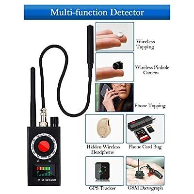 Anti Spy Detector, RF Detector, Camera Finder, Bug Detector, RF Signal Detector, Wireless Audio Bug Hidden Camera Detector Laser Lens GSM Finder Listening Device Finder Wireless Signal Alarm Audio Spy: Electronics