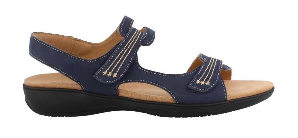 Trotters Womens Katarina Open Toe Casual Ankle Strap Sandals B078Q8WT2F 8 W US|Navy
