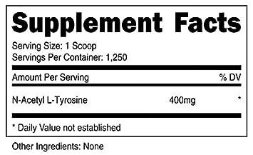 Nutricost N-Acetyl L-Tyrosine NALT Powder 500 Grams