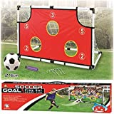 Kidoloop Soccer Football Goal Play Set with Ball & Post With Goal Target Points