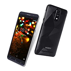 Xgody Y18 Unlocked Cell Phone Android 5.1 6 Inch ROM 16GB RAM 1GB Smart Wake qHD Screen Quad Core Dual SIM 8MP Phone T-mobile &AT-T Support (Y18 Black)