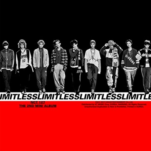 NCT127 - NCT #127 LIMITLESS (2nd Mini Album) CD + 2 Posters + Photos + Stickers + Postcard + Extra Gift Photocard Set