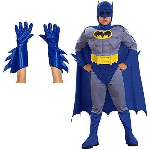 Batman Brave and Bold Child Costume Bundle Set - (Bold Jumpsuit Costumes)