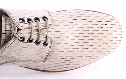 Scarpe Classiche Uomo MOMA 10508-1H Albino Pelle Bianco Vintage Made In Italy