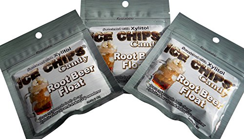New! Ice Chips Candy in Resealable Packets, Root Beer Float - 3 Pack