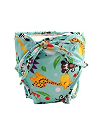 [Animal Friends], Size Medium, Adjustable and Stylish Infant Swim Diaper