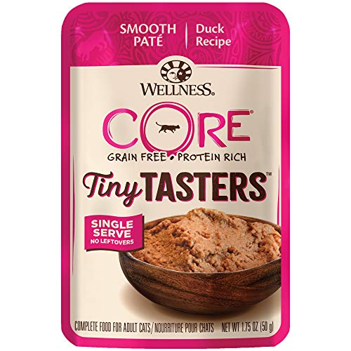 Wellness New CORE Natural Grain Free Tiny Tasters, Duck, 1.75-Ounce (Pack of 12)