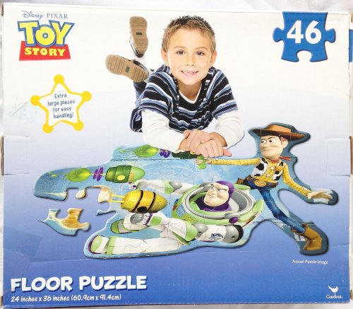 Puzzle Lightyear Buzz (Disney & Pixar TOY STORY Woody & Buzz Lightyear Preschool 46 Piece GIANT JIGSAW FLOOR PUZZLE (3 Feet Wide))