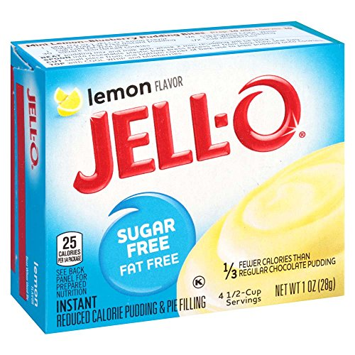 - Jell-O Sugar-Free Lemon Instant Pudding Mix 1 Ounce Box (Pack of 6)