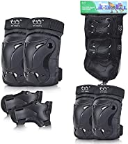 Kids Knee Pads Elbow Pads Wrist Guards Protective Gear Set for Skateboarding Skating Bike Rollerblade Bicycle