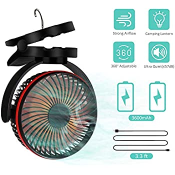 Amazon Com Jomst Portable Camping Fan Led Lantern 4