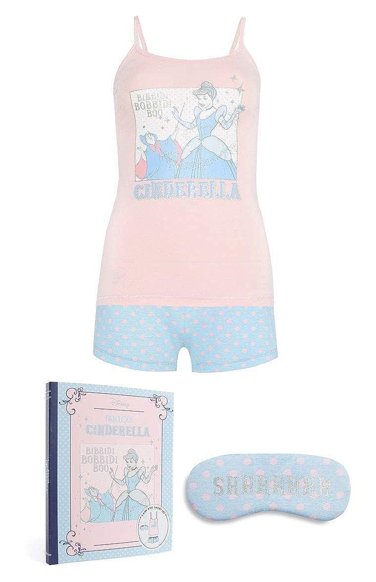 a46c3920d3670 Disney Women s Nightwear Cindrella Cami Shorts Set with Eyemask Primark   Amazon.co.uk  Clothing