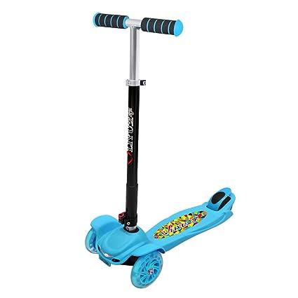 XUEYING-KickScooter Scooter de Tres Ruedas para niños Rueda Plegable de Cuatro Ruedas para niños