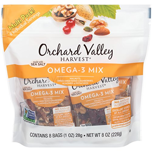 Orchard Valley Harvest Omega-3 Mix Multi Pack, Non-GMO Project Verified, No Artificial Ingredients, 8 ounces