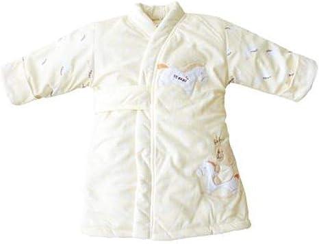 Saco de dormir de invierno para bebés bata de terciopelo coral para hombres y mujeres pijamas acolchados y gruesos batas para recién nacidos sudor húmedo de 0-2 años manta multifuncional para paquetes: