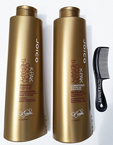 Joico K Pak Color Therapy Shampoo & Conditioner Liter 33.8 fl 0z With FREE Shower Comb -