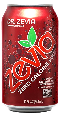 Zevia Zero Calorie Soda, Dr. Zevia, Naturally Sweetened Soda, (24) 12 Ounce Cans; Fruit-flavored Carbonated Soda; Refreshing, Full of Flavor and Delicious Natural Sweetness with No - Sensations Extra Sweet Fruit