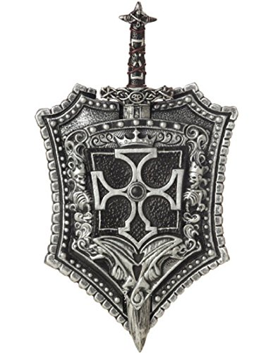 California Costumes Men's Crusader Sword & Shield Costume Accessory, Black/Silver, One Size - http://coolthings.us