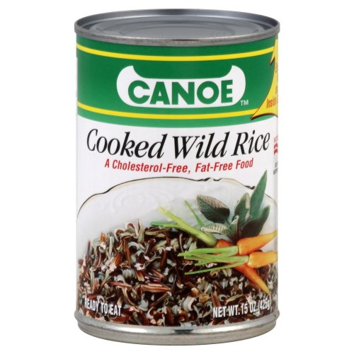 Canoe Cooked Wild Rice 15.0 OZ (Pack of 6) by Canoe