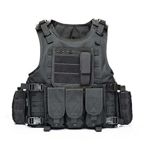 Yakeda Tactical Vest Outdoor Vest Field Play, Army Fans Outdoor Vest Cs Game Vest,cs Field Vest,expand Training Field Equipment Fishing Vest Cosplay of Counter Strike Game--322