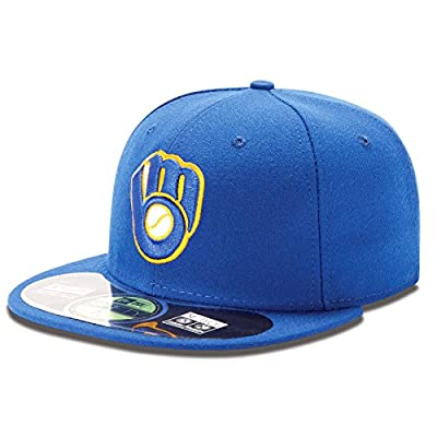 Milwaukee Brewers Hat New Era Game Fitted 5950 Cap