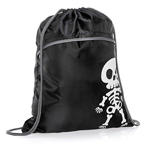 Thirty-One Halloween Bag - Cinch Sac in Lil Bones - 8952 - no -