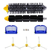 Replenishment Kit for iRobot Roomba 600 Series CNASA Roomba Replacement Parts for 600 Series 614 630 650 655 671 690 695, Including Filters, Brushes and Screws