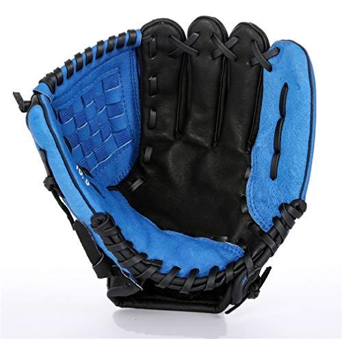 Baseball Leather Gloves Thicken Infield Pitcher Softball Child Junior Adult Full Baseball Gloves (Color : Blue-11.5)