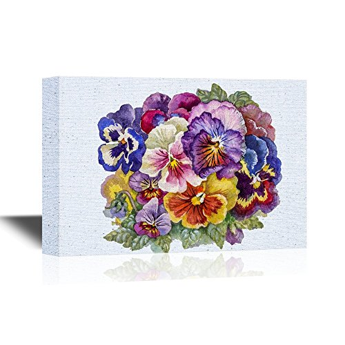 Pansy Flower Colorful Watercolor Pansy Flowers Gallery