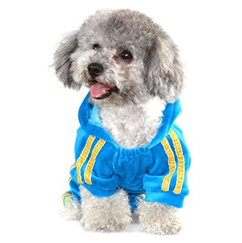 Selmai Dog Clothing Soft Velvet Crown Jumpsuit Pimped Pets