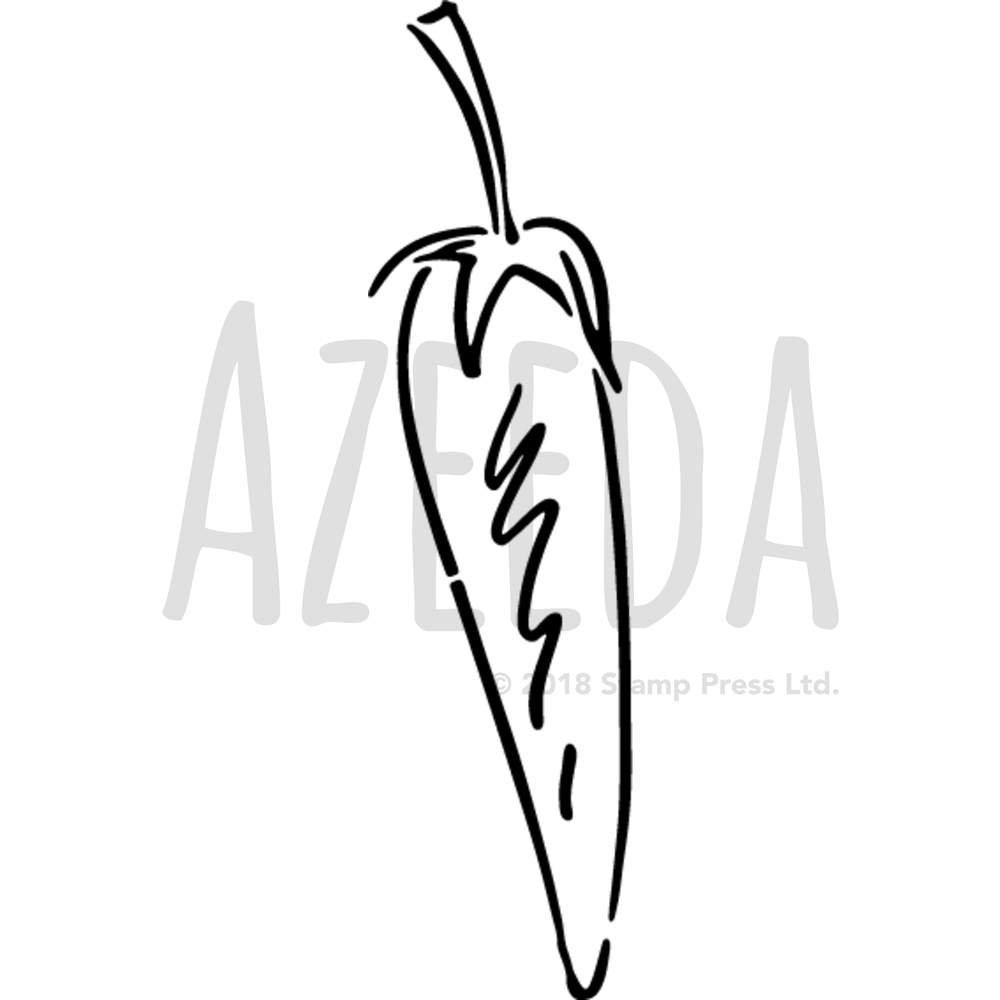 Azeeda A5 'Chilli Pepper' Wall Stencil / Template (WS00001276)