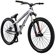 Mongoose Fireball Dirt Jump Mountain Bike, 26-Inch Wheels, Mechanical Disc Brakes