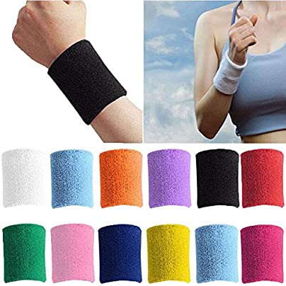 AWS Sports Sweat Wrist Bands Unisex Gym Training Fitness Tennis Cycling 2x Estimated Price £1.99 -