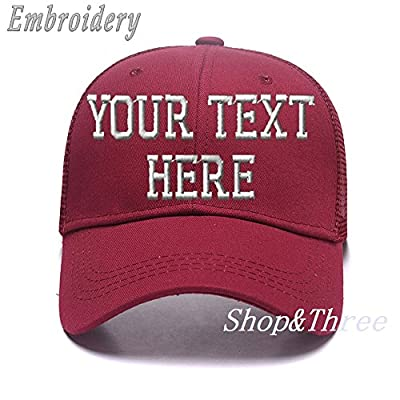 Custom Ponytail Baseball Cap Personalized Messy Bun Hat Mesh Visor Trucker Hat
