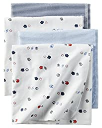 Carter\'s Baby Boys 4-Pack Sports Receiving Blankets