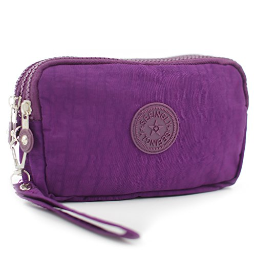 APAS Zippers Pencil Clutch Purple