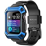 Apple Watch 4 Case 44mm 2018, SUPCASE Rugged Protective Case with Strap Bands for Apple Watch Series 4 [Unicorn Beetle Pro] (Blue)