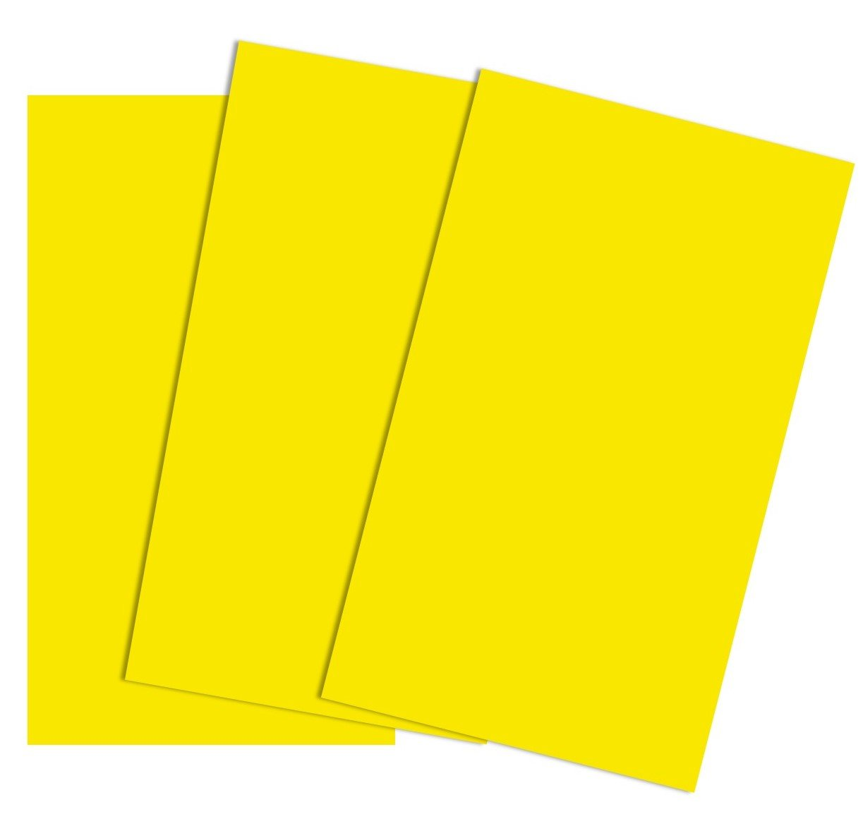 A4 Yellow Colour Coloured Card 160gsm Copier Cardmaking Ream Sheet 210mm x 297mm