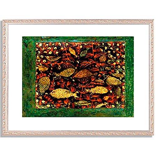 パウルクレー 「Aquarium. 1927-8. 」 インテリア アート 絵画 壁掛け アートポスターフレーム:装飾(銀) サイズ:S(221mm X 272mm) B00PB7H1J0 1.S (221mm X 272mm)|5.フレーム:装飾(銀) 5.フレーム:装飾(銀) 1.S (221mm X 272mm)